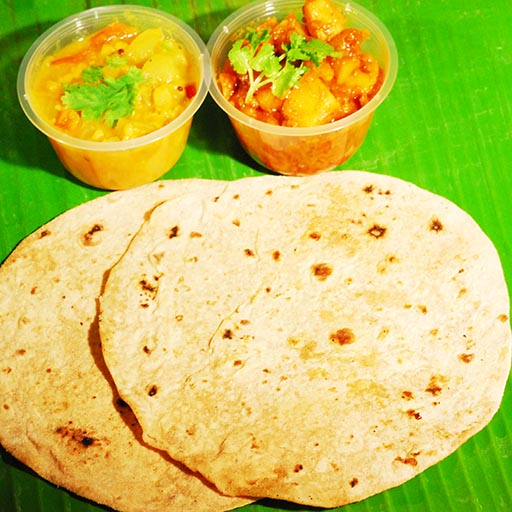 Chapati(2pcs with channa & veg)